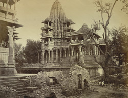 General view of unidentified Dilwara temple at Abu